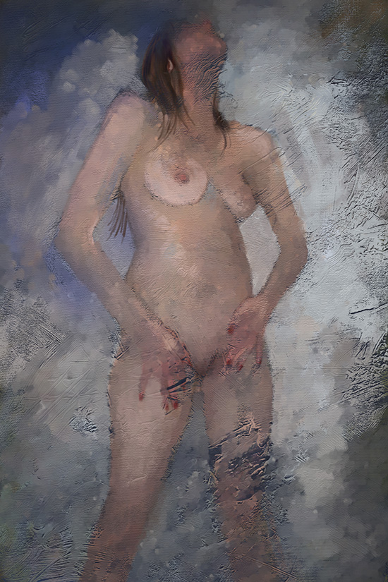 digital painting of shower