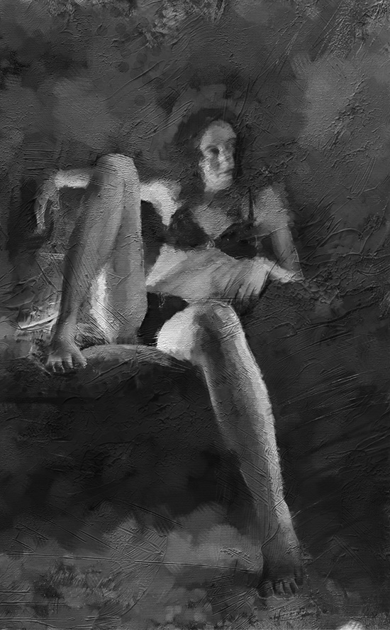 digital painting of Josie sitting